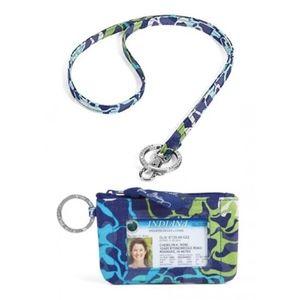 Lanyard & Zip ID Case in Katalina Blues